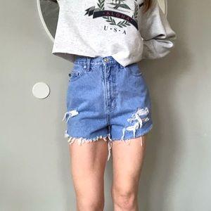 Vintage cutoff high waist shorts
